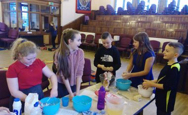 Children Making Playdough