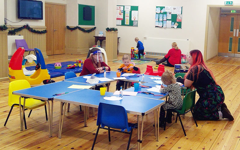 Playgroup Children Playing
